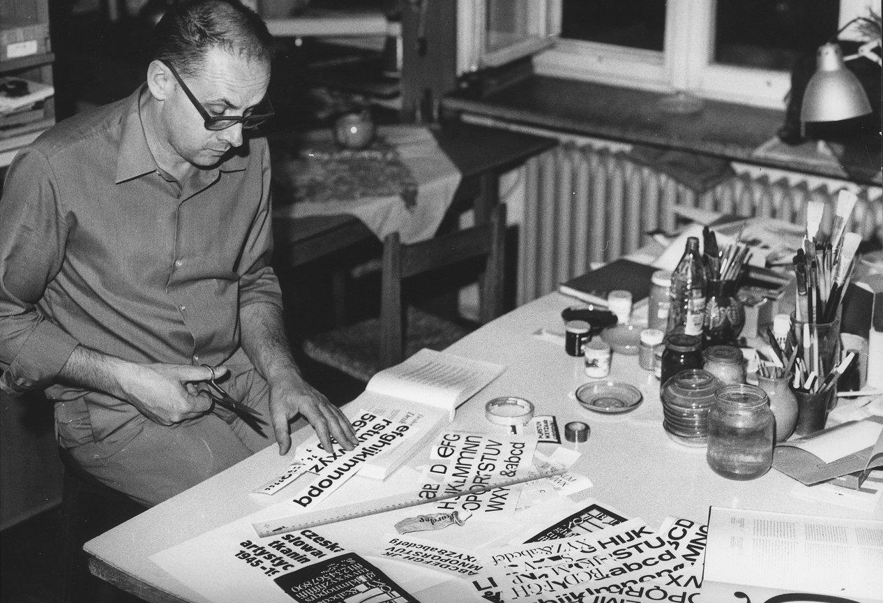 Jerzy Treutler w pracowni