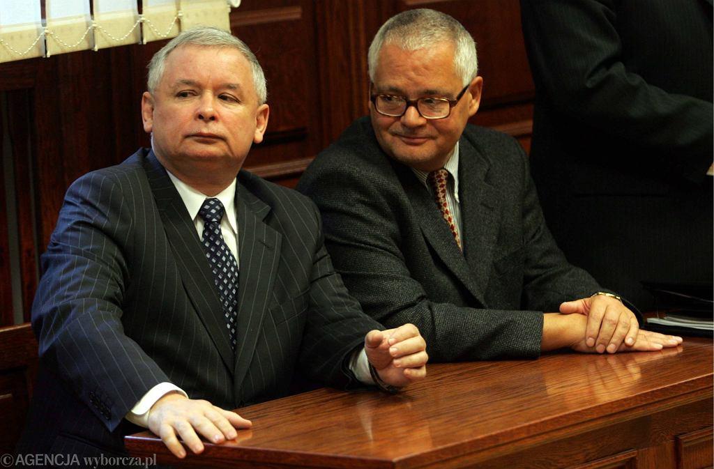 Adam Glapiński i Jarosław Kaczyński