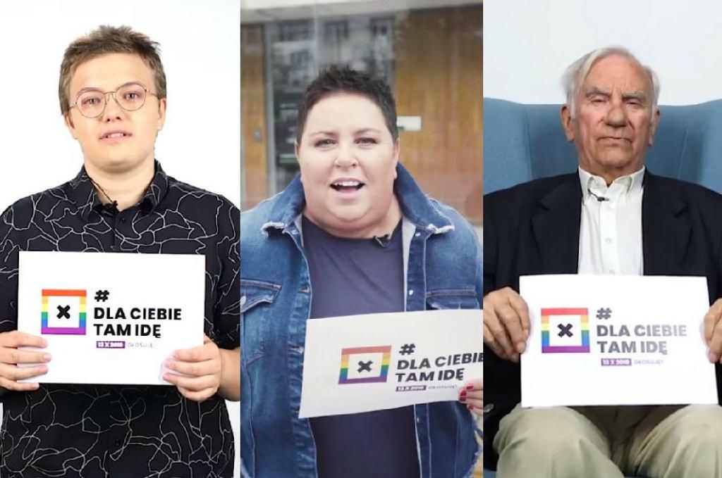Uczestnicy akcji - Leo, Dorota Wellman i dziadek Zdzisław