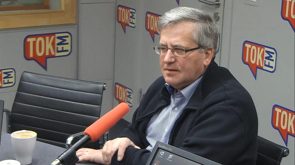 Bronisław Komorowski w studiu TOK FM.