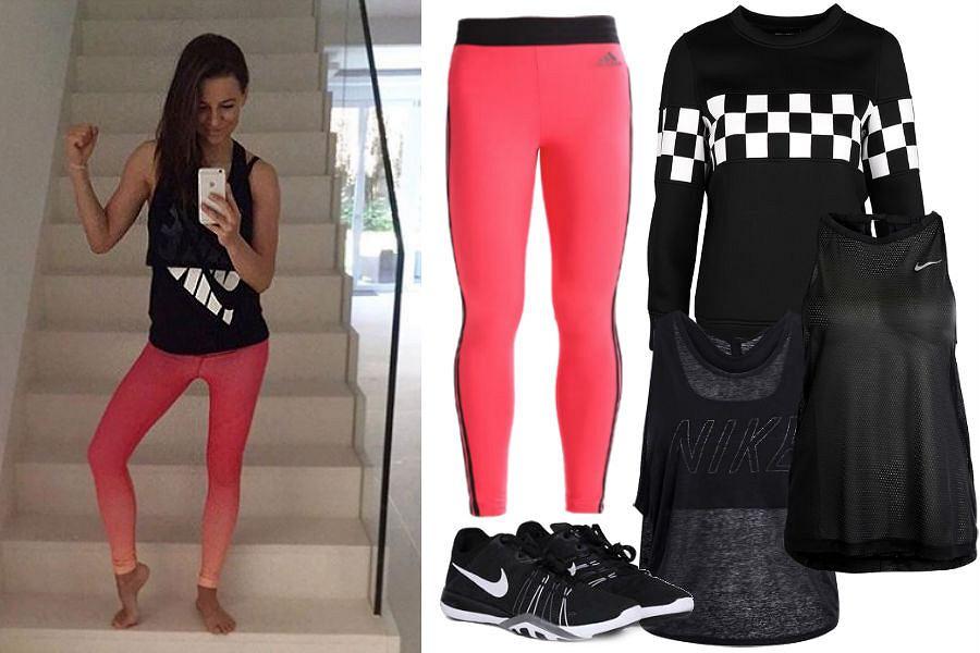 Kolaż / Źródło: www.instagram.com/annalewandowskahpba / T-shirt na trening
