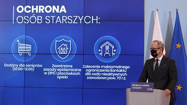 Konferencja premiera i ministra zdrowia w KPRM, 10 października 2020.