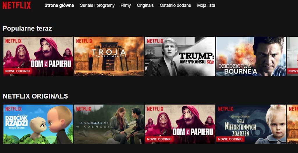 Strona główna Netflixa