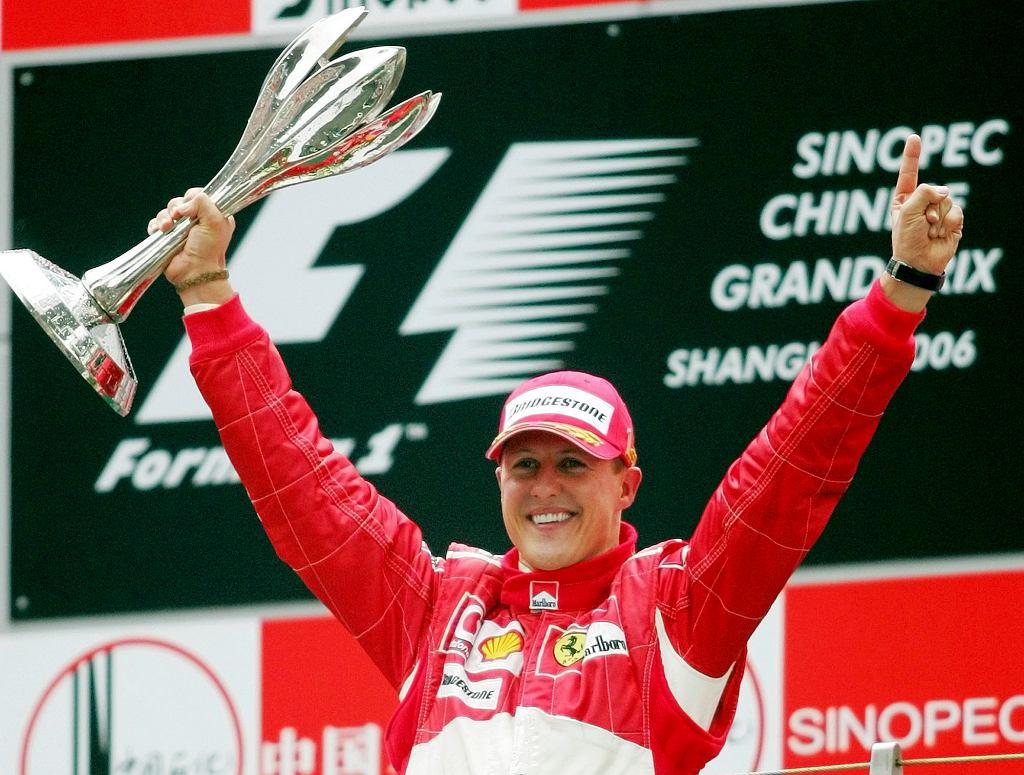 Michael Schumacher świętuje Grand Prix F1 w Szanghaju, 2016 r.