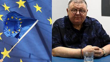 Flaga UE i Wojciech Mann