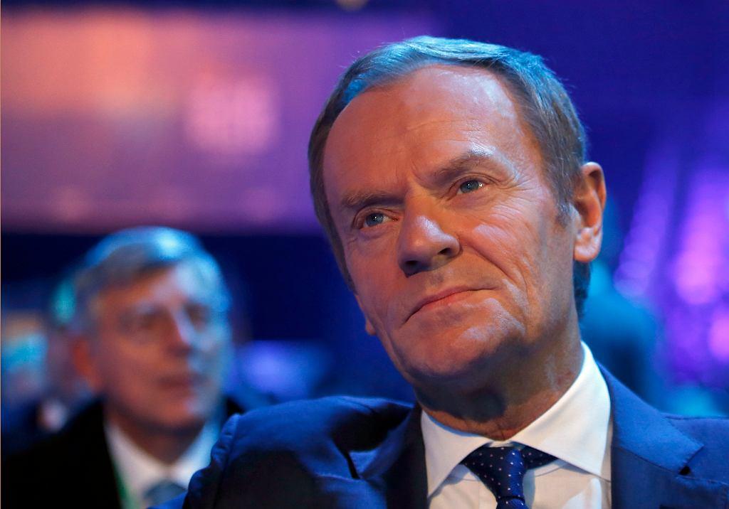 20.11.2019, Donald Tusk podczas kongresu Europejskiej Partii Ludowej w Zagrzebiu.