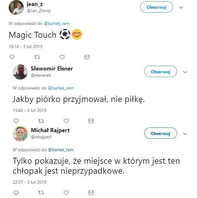 Kibice pod wrażeniem zagrania Krzysztofa Piątka