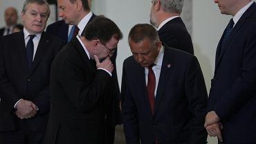 Marian Banaś i minister spraw wewnętrznych w rządzie PiS Mariusz Kamiński. Warszawa, Pałac Prezydencki, 14 sierpnia 2019