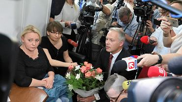 10.05.2018, poseł Jacek Żalek z przeprosinami u protestujących rodziców niepełnosprawnych dorosłych.