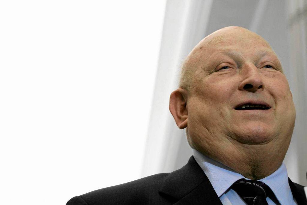 Józef Oleksy podczas kongresu lewicy w 2013 roku