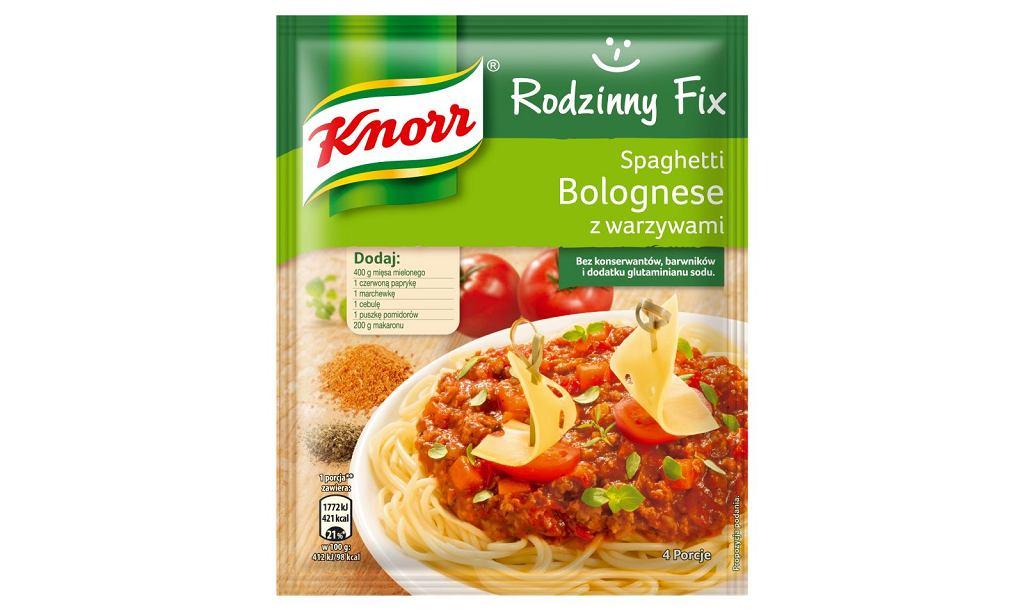 Spaghetti bolognese z warzywami Rodzinny Fix Knorr
