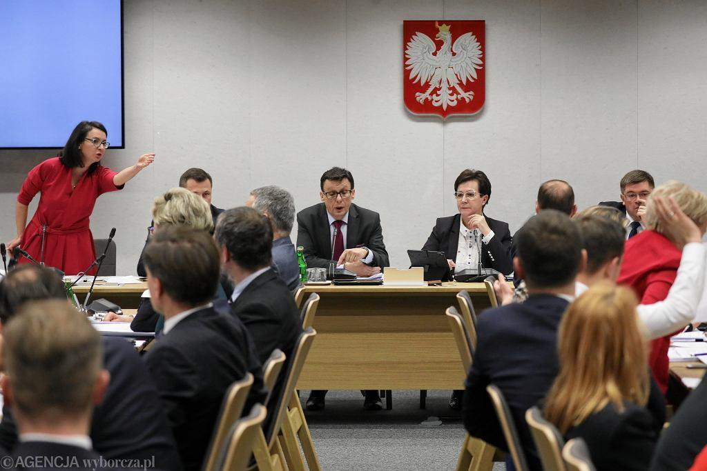 Sejmowa Komisja Sprawiedliwości pracuje nad 'ustawą kagańcową PiS'. Warszawa, 19 grudnia 2019