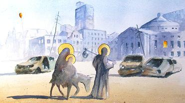 Bożonarodzeniowy rysunek Grzegorza Chudego