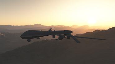 Zdjęcie ilustracyjne. Dron MQ-9 Reaper - taki został wykorzystany przez USA do ataku na Sulejmaniego.