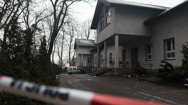 Hospicjum w Chojnicach po pożarze.