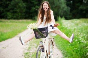 jazda na rowerze latem