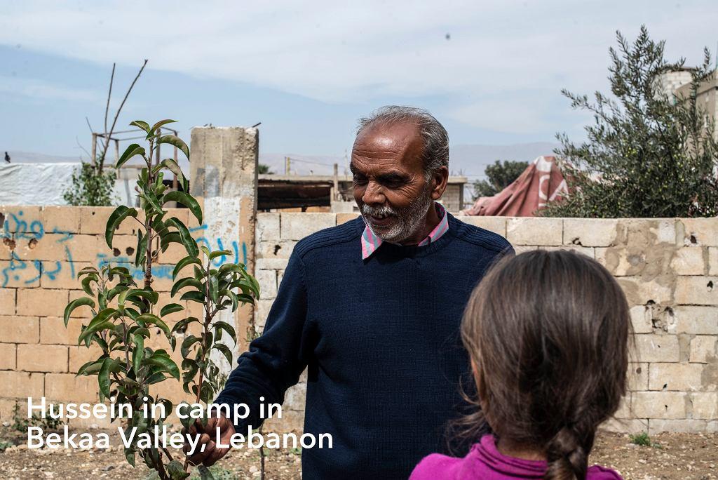 Obóz dla uchodźców w dolinie Bekaa w Libanie