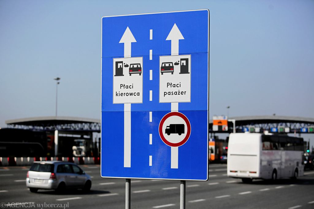 Krakow, Balice. Okolice bramek na autostradzie A4