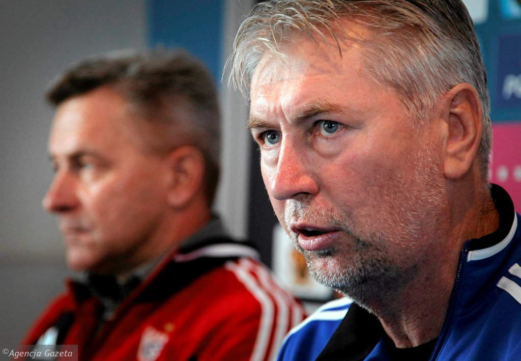 Trener Jan Kocian (z prawej) oraz Józef Dankowski