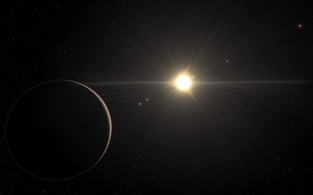 Wizja artystyczna systemu planetarnego TOI-178