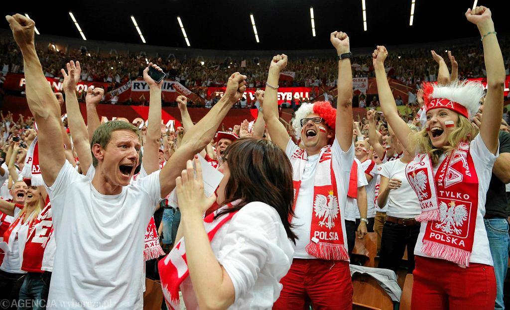 MŚ siatkarzy 2014. Polska - Niemcy 2014. Radość kibiców w Spodku