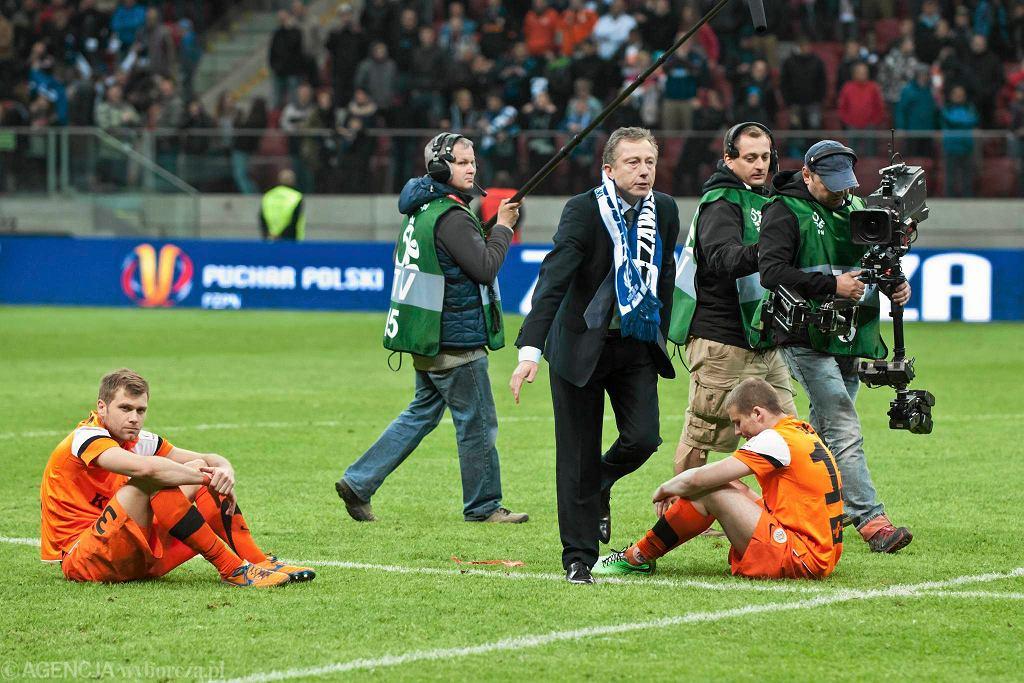 Finał Pucharu Polski na Stadionie Narodowym. Załamani gracze Zagłębia