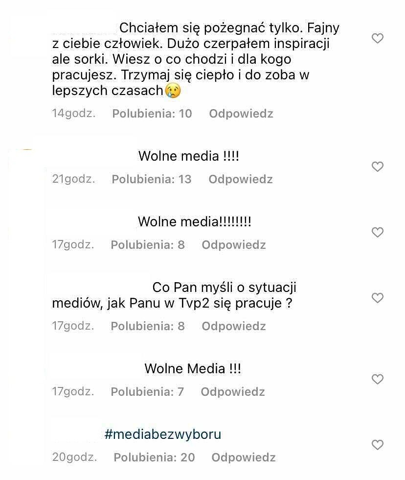 Komentarze na profilu Tomasza Kammela
