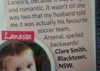 Nazwał córkę Lanesra. Żona pomyślała: Jakie romantyczne imię. A teraz przeczytajcie to od tyłu
