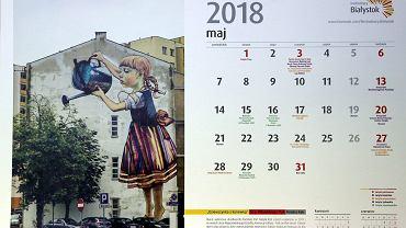 Najciekawsze białostockie murale znalazły się na kartach kalendarza przygotowanego przez białostocki magistrat na rok 2018