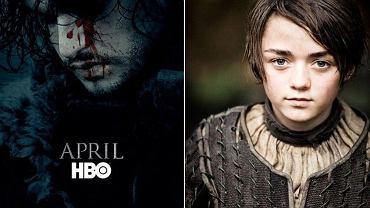 """Plakat zapowiadający nowy sezon """"Gry o tron"""" i Maisie Williams, czyli serialowa Arya Stark"""