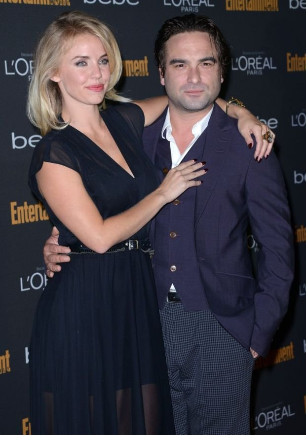 JOHNNY GALECKI + KELLI GARNER @ the 2013 Entertainment Weekly's Pre-Emmy party held @ the Fig & Olive.  September 20, 2013