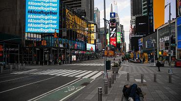 Nowy Jork. Koronawirus uderza w gospodarkę USA.