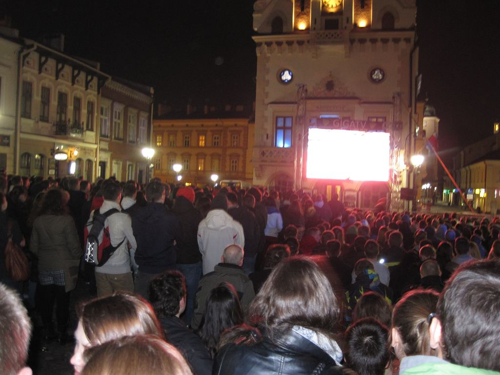 Mecz Resovia - Zaksa kibice oglądali też na rzeszowskim Rynku