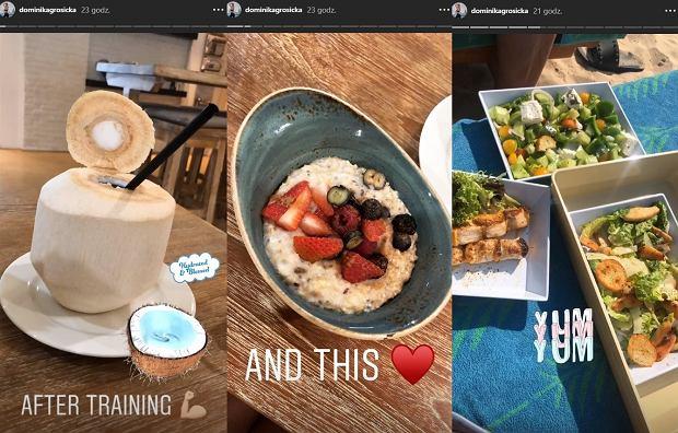 Dominika Grosicka pokazała, jak wygląda jej dieta na urlopie