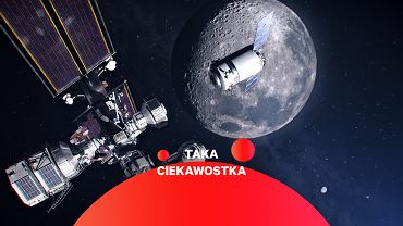 Najbardziej aktualna grafika przedstawiająca stację Lunar Gateway i cumujący do niej statek transportowy