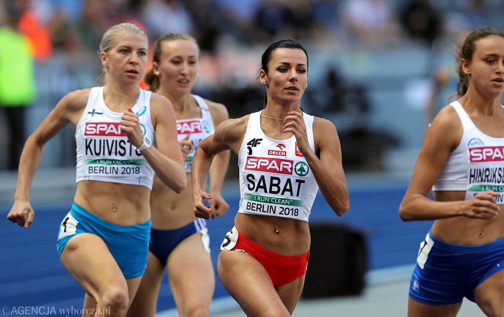 Anna Sabat podczas eliminacji biegu na 800 metrów.