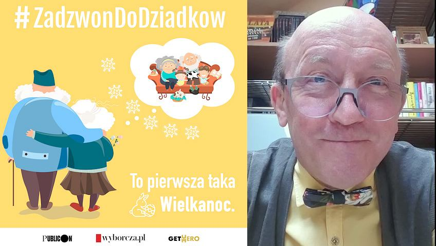 Artur Barciś w kampanii #ZadzwonDoDziadkow