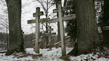 Cmentarz staroobrzędowców w Wojnowie na Mazurach.
