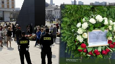 Wieniec przed Pomnikiem Ofiar Tragedii Smoleńskiej 2010 r.