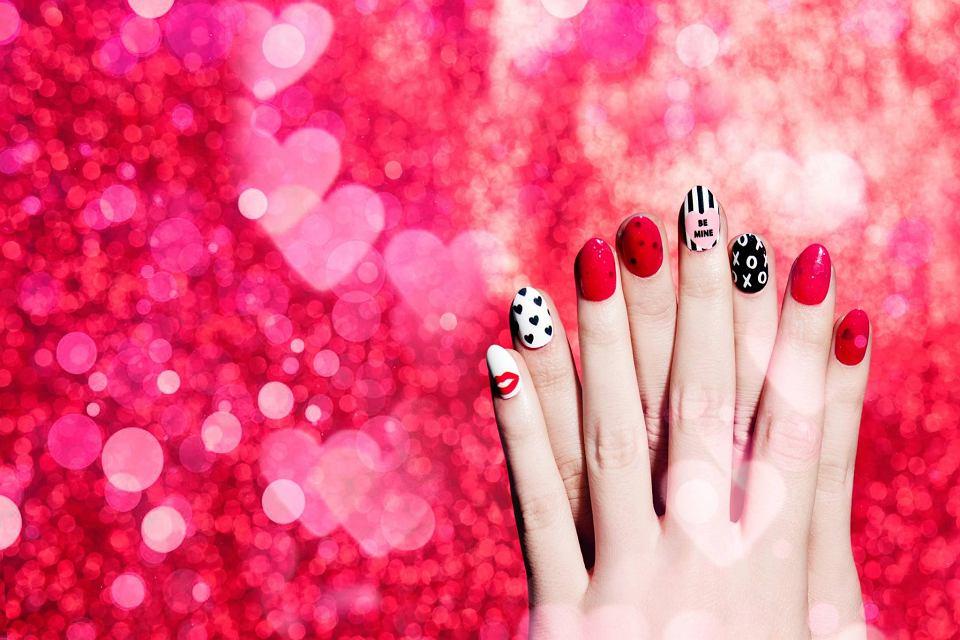 NLCA - manicure na Walentynki