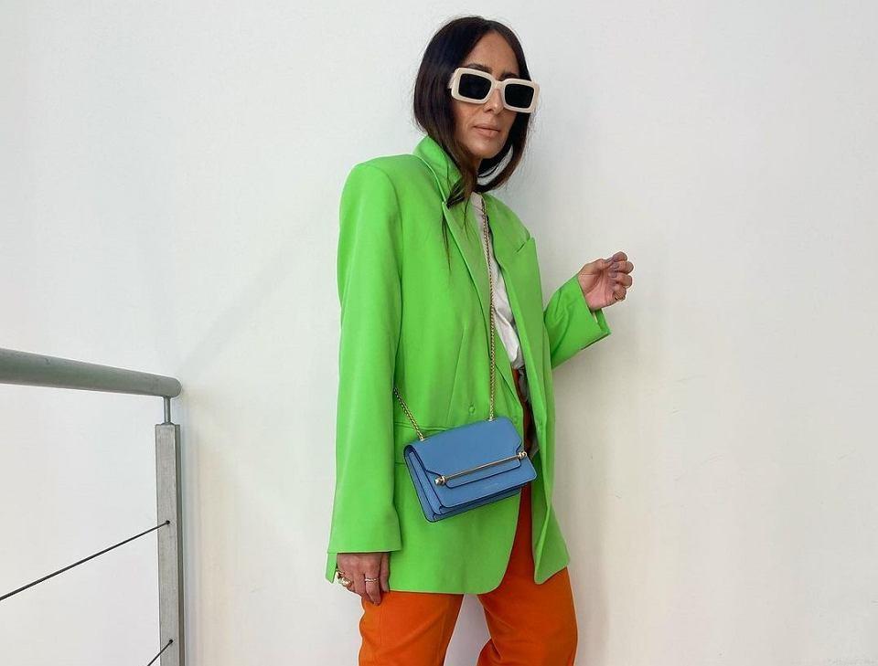 kolorowy garnitur