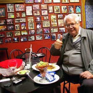 Raymundo Riverę Gonzáleza codziennie  spotkacie wEl Taquito-Sanktuarium Dobrego Jedzenia