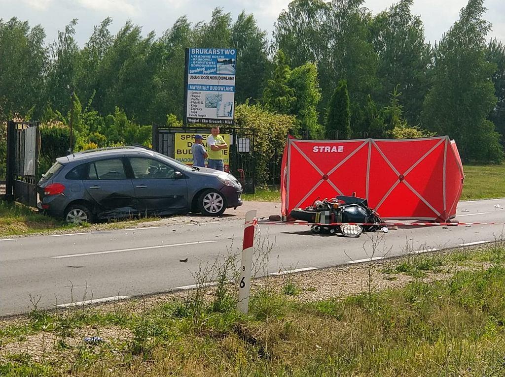 Wypadek śmiertelny na drodze wojewódzkiej nr 636 w miejscowości Kozły