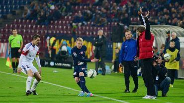 Mateusz Lewandowski podczas meczu z Górnikiem