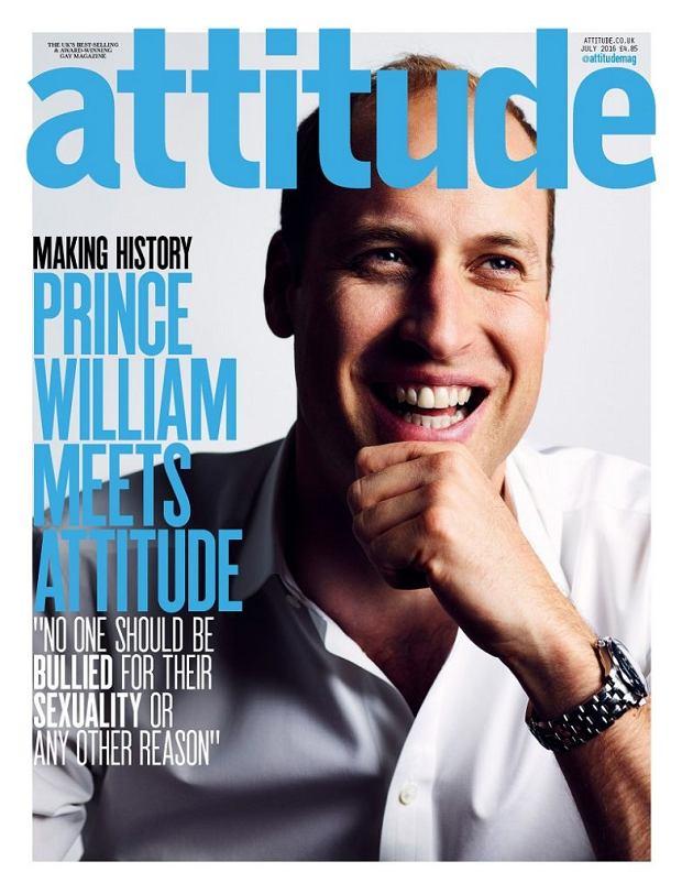 Książę William na okładce magazynu 'Attitude'