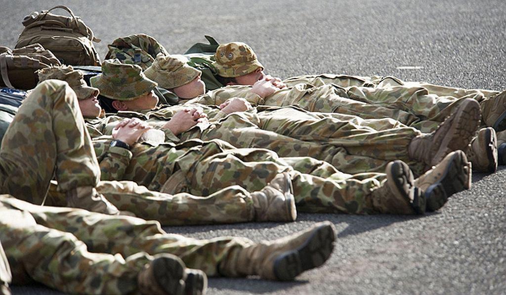 Żołnierze potrafią zasnąć w mniej niż 2 minuty