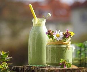 Przepisy na zdrowe zielone soki z warzyw, ziół i chwastów.