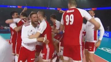 Radość polskich siatkarzy po pokonaniu Brazylii