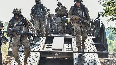 Żołnierze USA podczas ćwiczeń w Polsce