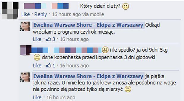Komentarz Ewelina Warsaw Shore